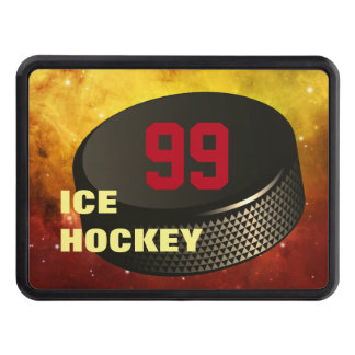 Ice Hockey Puck- Trailer Hitch Cover