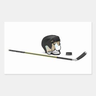 Ice Hockey Rectangular Sticker