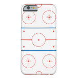 ice hockey rink graphic barely there iPhone 6 case