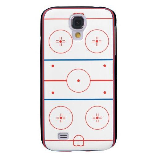 ice hockey rink graphic samsung galaxy s4 cases