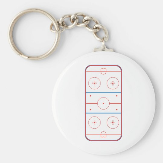 ice hockey rink graphic keychain