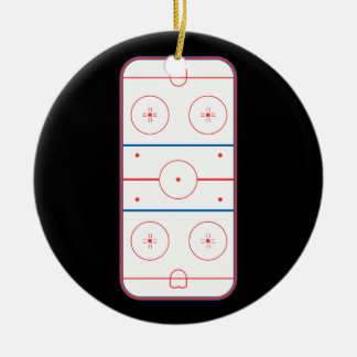 ice hockey rink graphic ornaments
