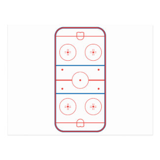ice hockey rink graphic post cards