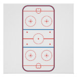 ice hockey rink graphic posters