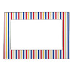 [ Thumbnail: Ice Hockey Rink-Inspired Stripes Magnetic Frame ]