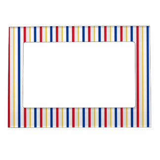 Ice Hockey Rink-Inspired Stripes Magnetic Frame