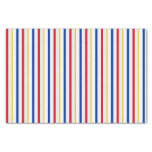 [ Thumbnail: Ice Hockey Rink-Inspired Stripes Tissue Paper ]