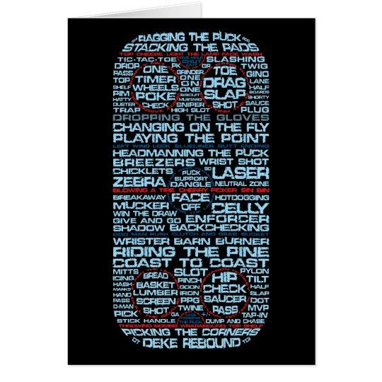 Ice Hockey Rink Typography Card