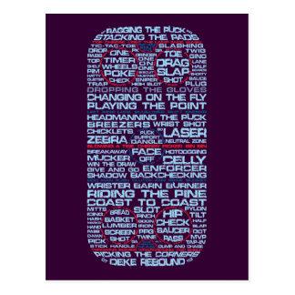 Ice Hockey Rink Typography Postcards