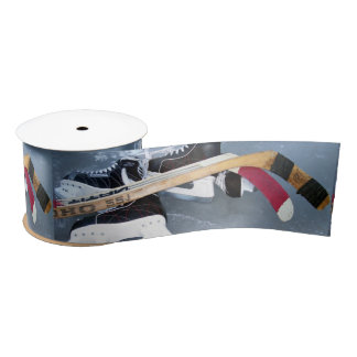Ice Hockey Satin Ribbon