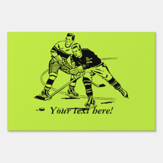 Ice hockey sign