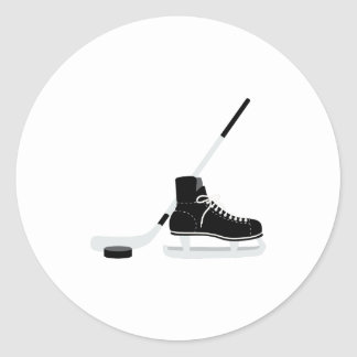 Ice Hockey Skate Classic Round Sticker