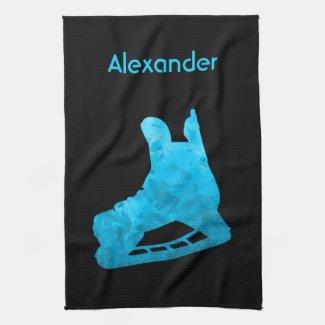 Ice Hockey skate towel turquoise