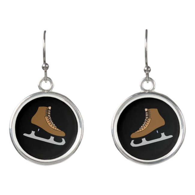 Ice Hockey Skates Sports Earrings