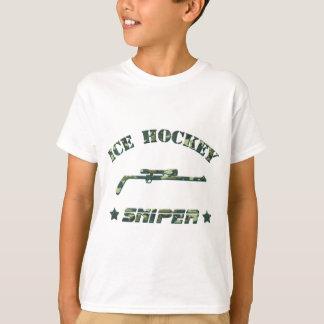Ice Hockey Sniper Green Camo T-Shirt