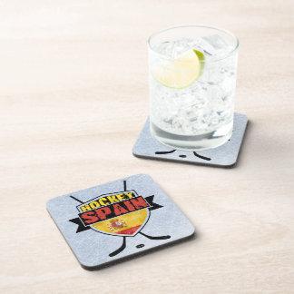 Ice Hockey Spain Shield Beverage Coasters