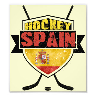 Ice Hockey Spain Shield Photo Print