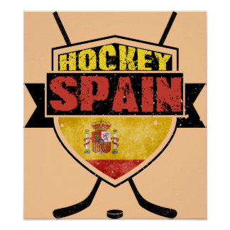 Ice Hockey Spain Shield Poster
