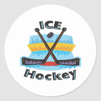 Ice Hockey Round Stickers