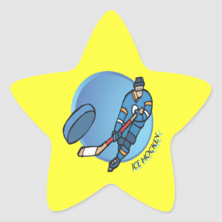 Ice Hockey Star Sticker