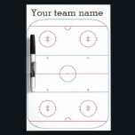 "ice hockey strategy dry erase board<br><div class=""desc"">Use this handy dry erase board to strategize your team&#39;s ice hockey plays!</div>"