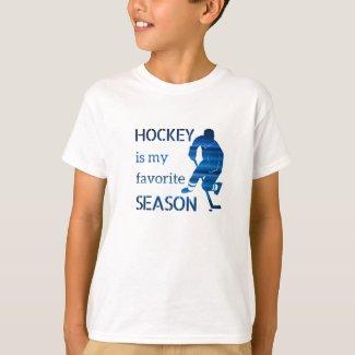Ice Hockey t-shirt Favorite season fan blue