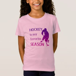 Ice Hockey t-shirt Favorite season fan purple pink
