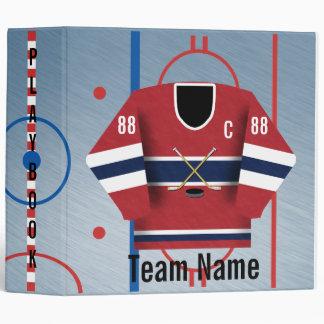 Ice Hockey Team Jersey Playbook Binder