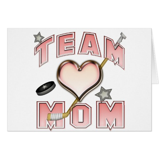 Ice Hockey Team Mom Card