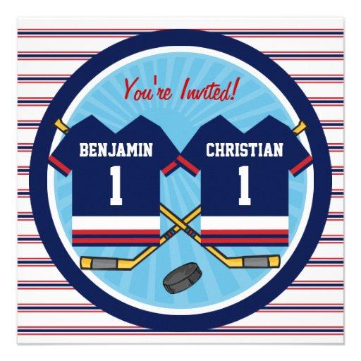 Personalized Hockey birthday party Invitations – Hockey Birthday Party Invitations