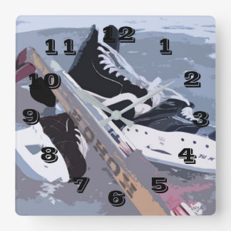 Ice Hockey Wall Clock