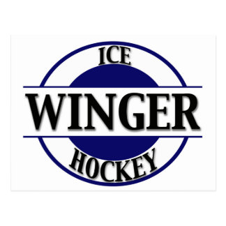 Ice Hockey Winger Postcard