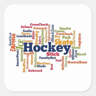 Ice Hockey Word Cloud Square Sticker
