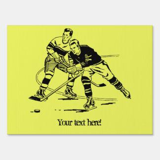 Ice hockey yard sign