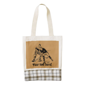 Ice hockey zazzle HEART tote bag