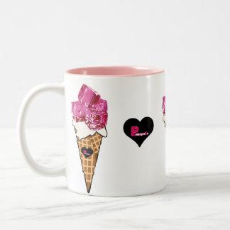 Ice Ice Baby Pink Ice Cream Cone Coffee Mug