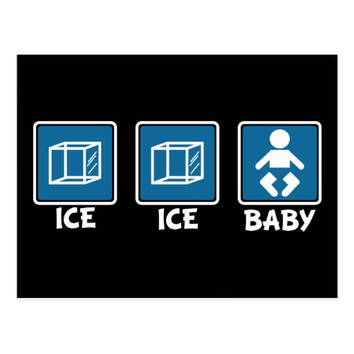 Ice Ice Baby Postcard