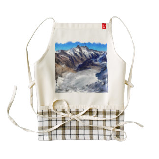 Ice in the towering Swiss Alps Zazzle HEART Apron