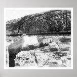 Ice Jam Dawson Bridge Alaska 1910 Posters