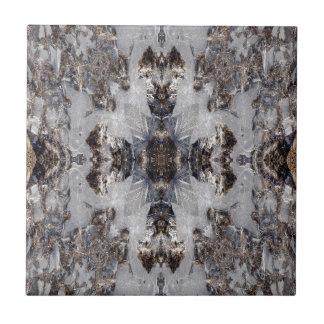 Ice kaleidoscope pattern ceramic tile