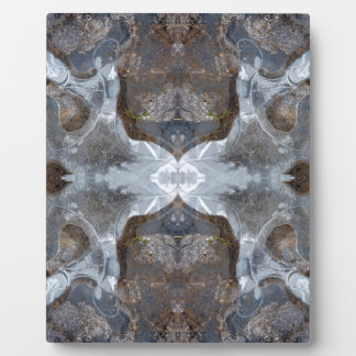 Ice kaleidoscope pattern plaque