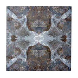 Ice kaleidoscope pattern tile