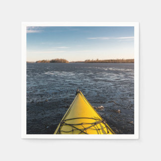 Ice kayaking paper napkin