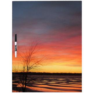 Ice Lake Sunset Large Dry Erase Board