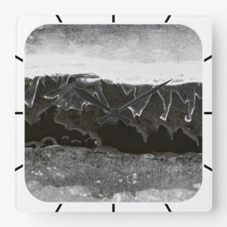 Ice layers square wall clock