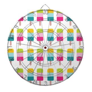 Ice lolly dream dartboard with darts