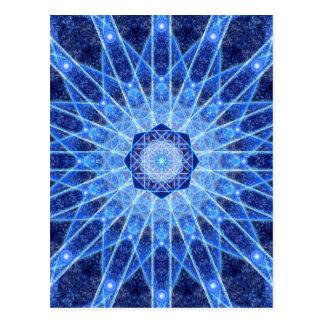 Ice Lotus Mandala Postcard