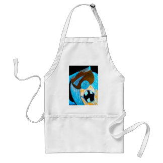 Ice man character adult apron