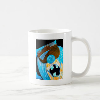 Ice man character coffee mug