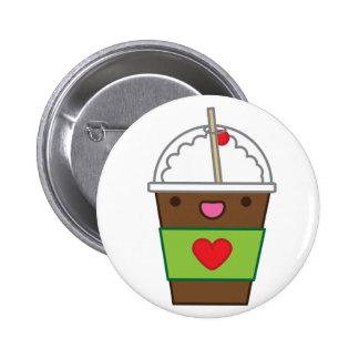 Ice mocha coffee pinback buttons